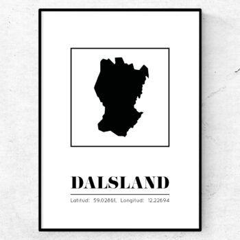 dalsland poster tavla landskap