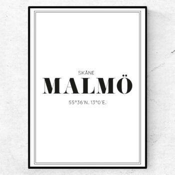 Malmö poster tavla