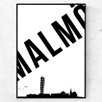 Malmö skyline poster tavla
