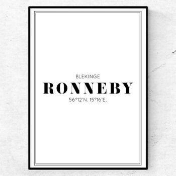 ronneby poster tavla