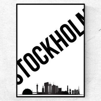 Stockholm poster tavla print