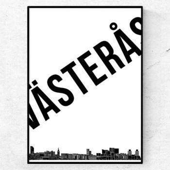 Västerås skyline poster