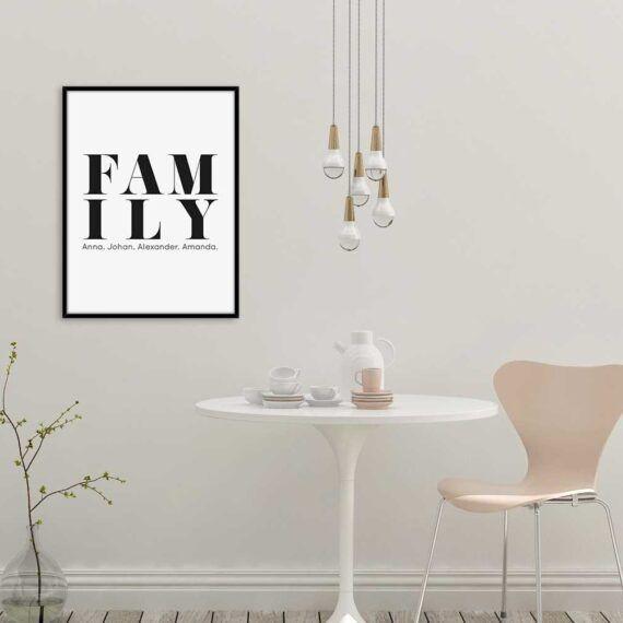 Family poster familjetavla