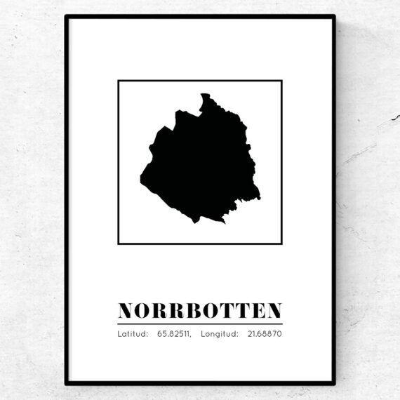 norrbotten poster tavla landskap