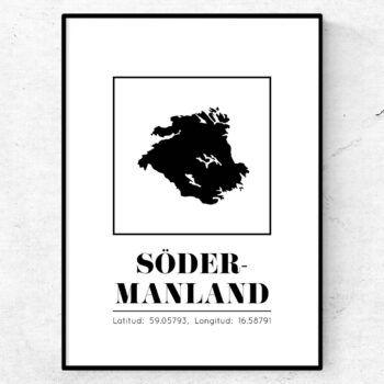södermanland poster tavla landskap