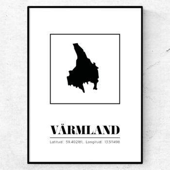 värmland poster tavla landskap