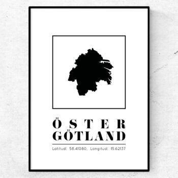 östergötland poster tavla landskap