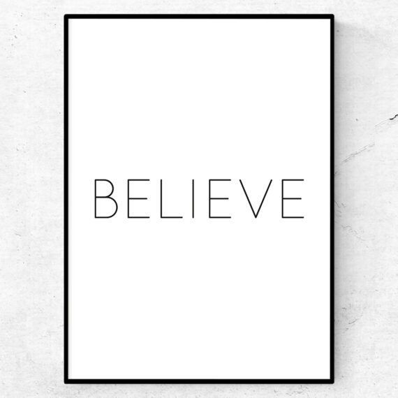 believe poster tavla