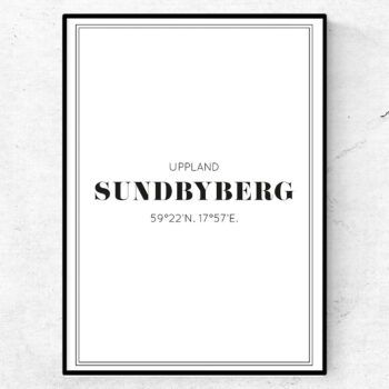sundbyberg poster tavla