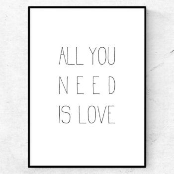 all you need is love poster tavla