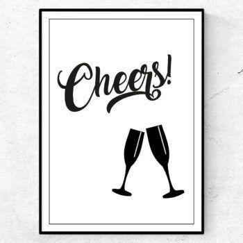cheers - poster tavla för bar och kök alkohol