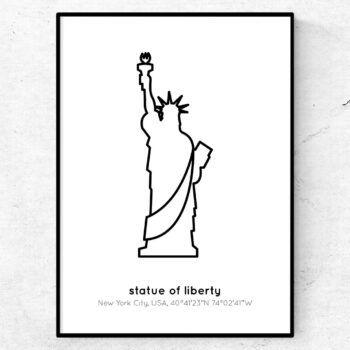 new york poster frihetsgudinnan tavla