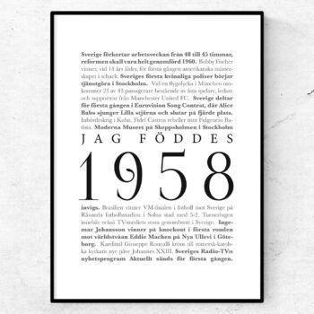 årtalsposter 1958 poster