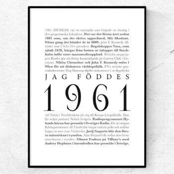 årtalsposter 1961 poster