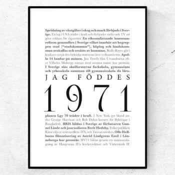 årtalsposter 1971 poster