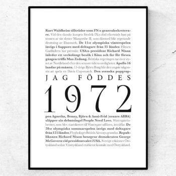 årtalsposter 1972 poster