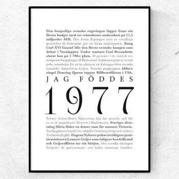 årtalsposter 1977 poster