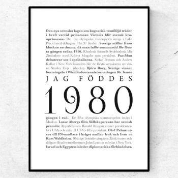 årtalsposter 1980 poster