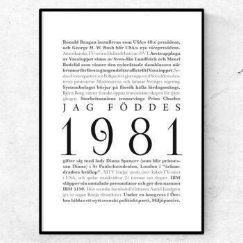 årtalsposter 1981 poster