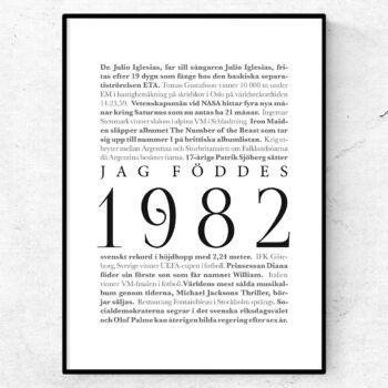 årtalsposter 1982 poster