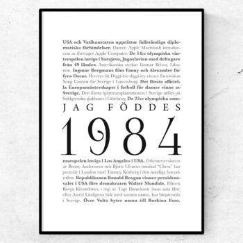 årtalsposter 1984 poster