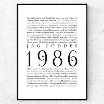 årtalsposter 1986 poster