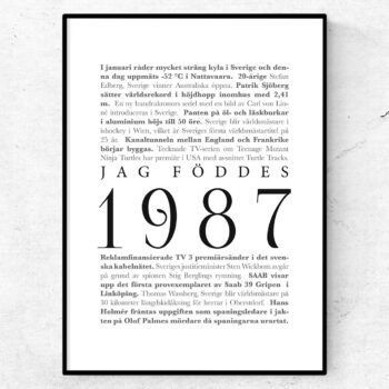 årtalsposter 1987 poster