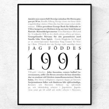 årtalsposter 1991 poster
