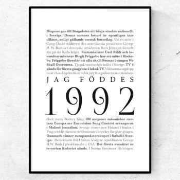 årtalsposter 1992 poster