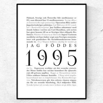 årtalsposter 1995 poster