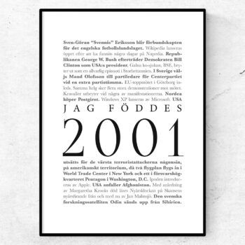 årtalsposter 2001 poster