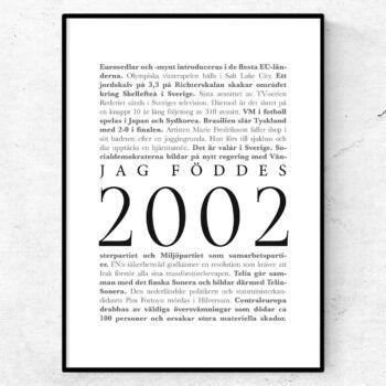 årtalsposter 2002 poster