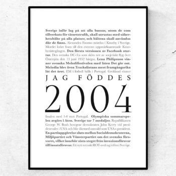 årtalsposter 2004 poster