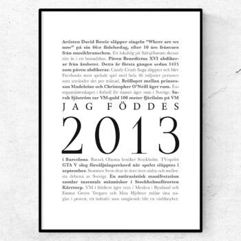 årtalsposter 2013 poster