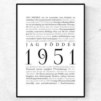 årtalsposter 1951 poster