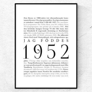 årtalsposter 1952 poster