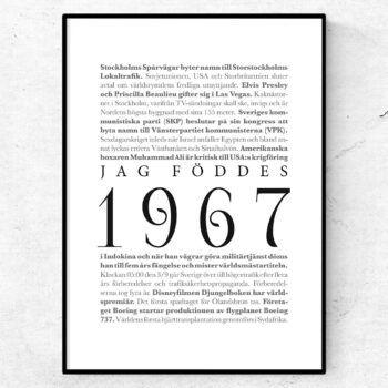 årtalsposter 1967 poster