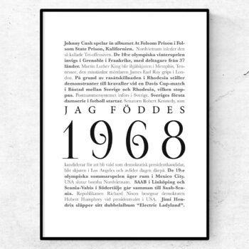 årtalsposter 1968 poster