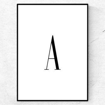 a bokstav letter poster