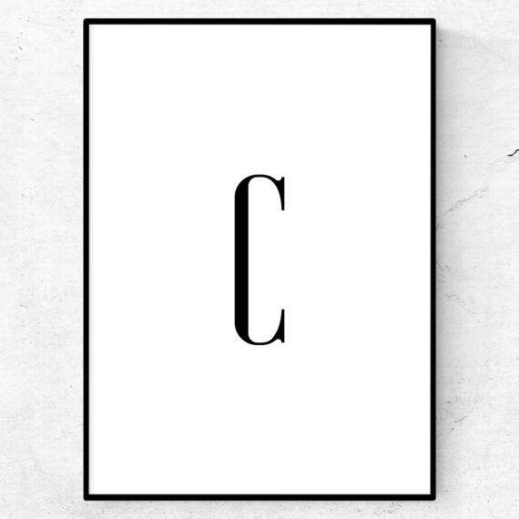 C bokstav letter poster