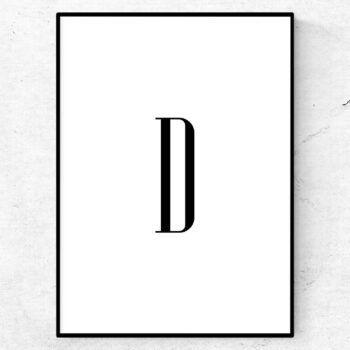 d bokstav letter poster