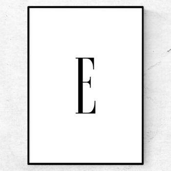 e bokstav letter poster