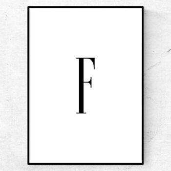 f bokstav letter poster