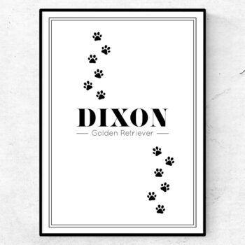 hundtavla med eget namn poster