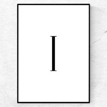 i bokstav letter poster