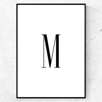 M bokstav letter poster