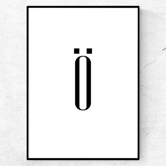 ö bokstav letter poster