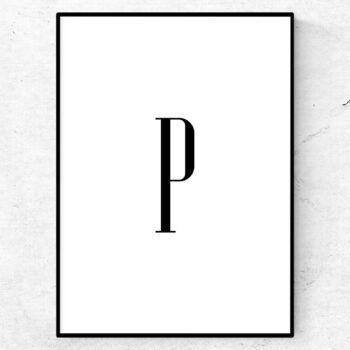P bokstav letter poster