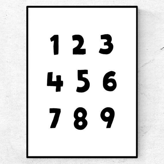lekfulla siffror poster