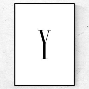 y bokstav letter poster